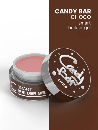 Гель камуфлирующий COSMO Gel Builder CANDY BAR SMART Choco 50 мл- фото2