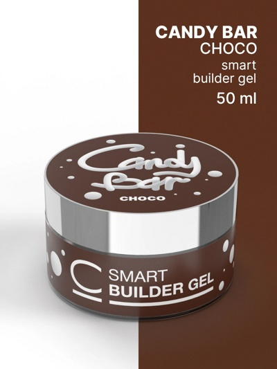 Гель камуфлирующий COSMO Gel Builder CANDY BAR SMART Choco 50 мл- фото