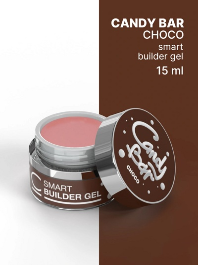 Гель камуфлирующий COSMO Gel Builder CANDY BAR SMART Choco 15 мл- фото2